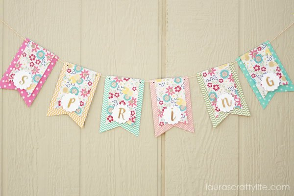Colorful March spring banner - Laura's Crafty Life