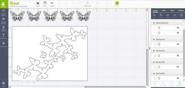 Cricut Design Space - Butterfly Lampshade