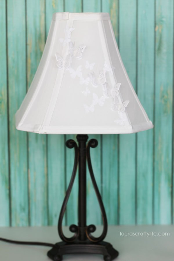 Cricut Explore Butterfly Lampshade - Laura's Crafty Life