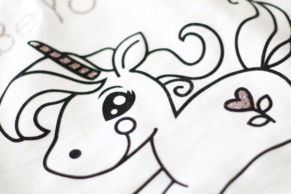 Cricut Trendy T-Shirts Unicorn
