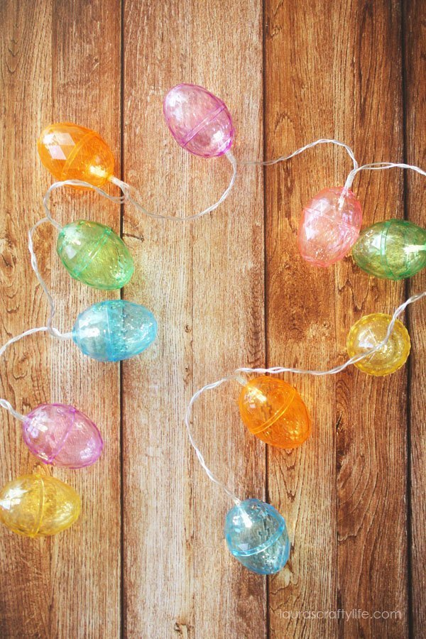 DIY Lighted Easter Egg Garland - Laura's Crafty Life
