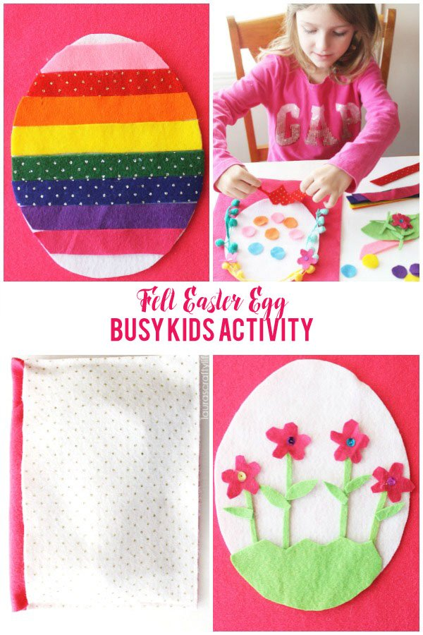 Felt Easter Egg Busy Kid's Activity - great idea to keep little hands busy