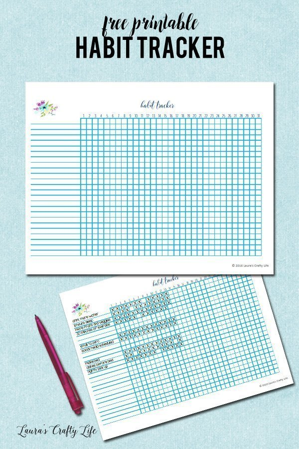 It's just a picture of Eloquent Habit Tracker Printable Free