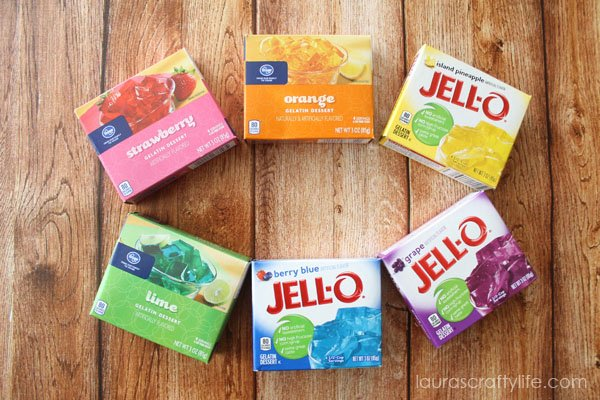 How to make rainbow jello for St
