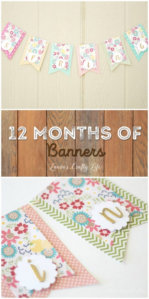 March Spring Banner - 12 Months of Banners at Laura's Crafty Life