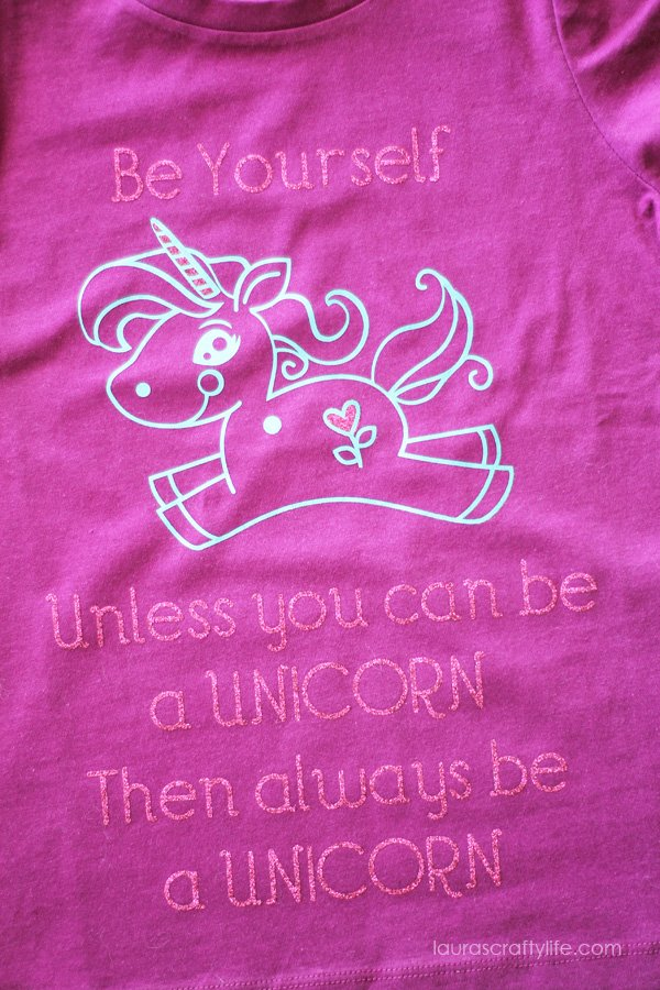 Pink and blue DIY Be a Unicorn T-Shirt
