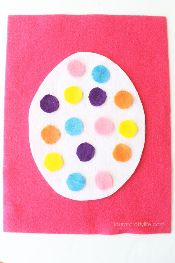 Polka dot felt Easter egg kid's craft