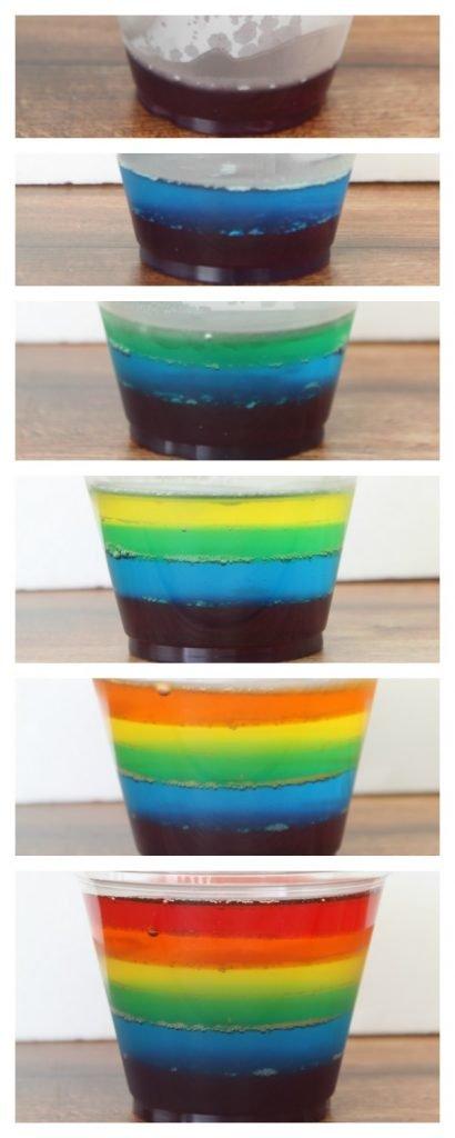 Rainbow Jello Recipe - quick set method takes under an hour to make
