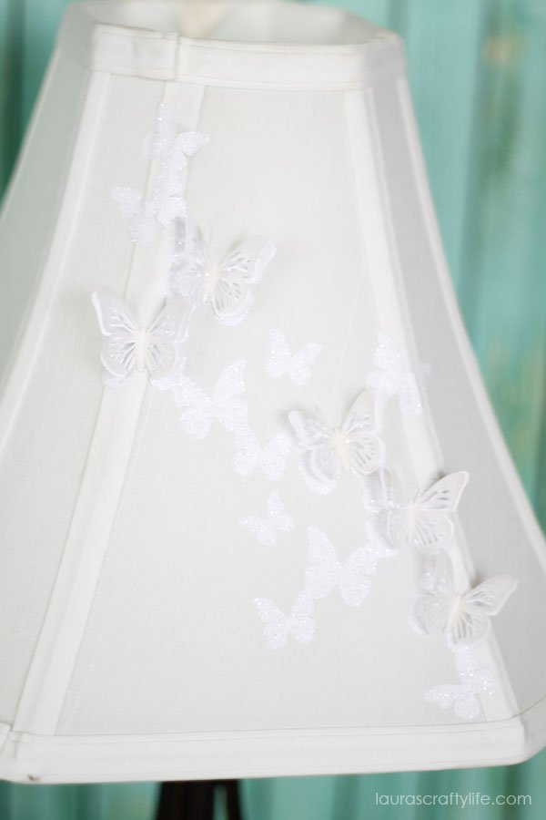 Use your Cricut Explore to make a Butterfly Lampshade