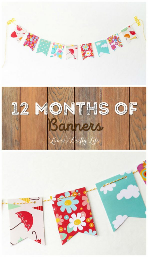 April Showers Bring May Flowers - 12 Months of Banners