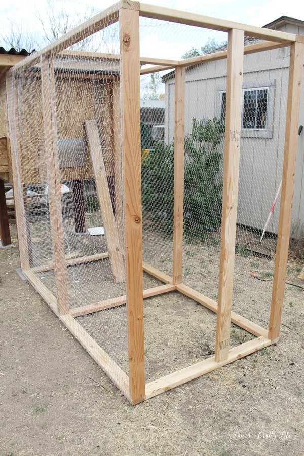 Attach 2 x 4 on front to create a brace for the door