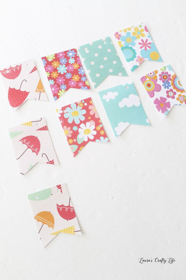 Banner shapes for mini April showers banner