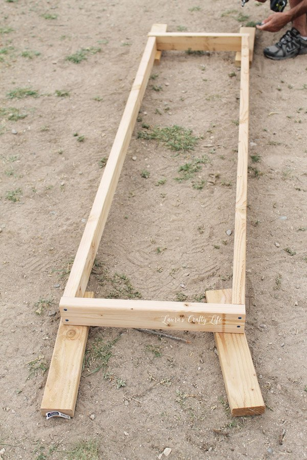 Build a frame for the door