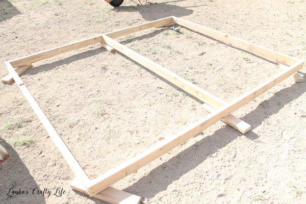 Create wall frames for chicken run
