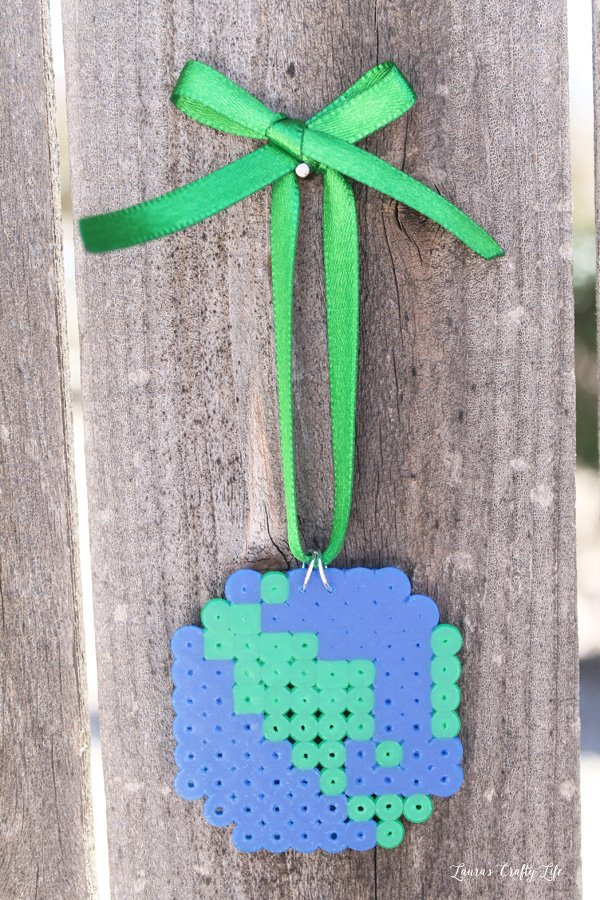 Earth Day Perler bead wall hanging