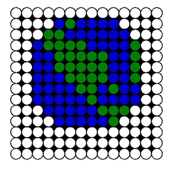 Earth Perler Bead Pattern