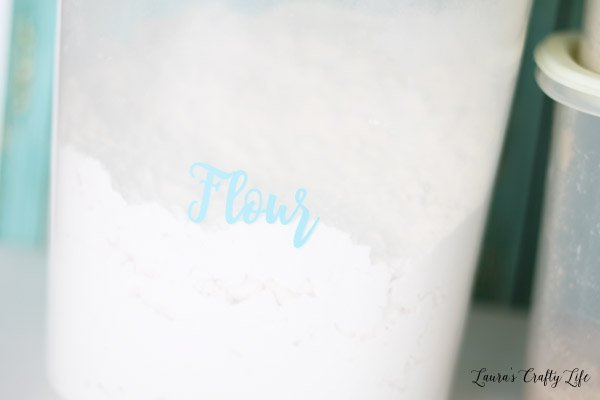Flour vinyl kitchen label
