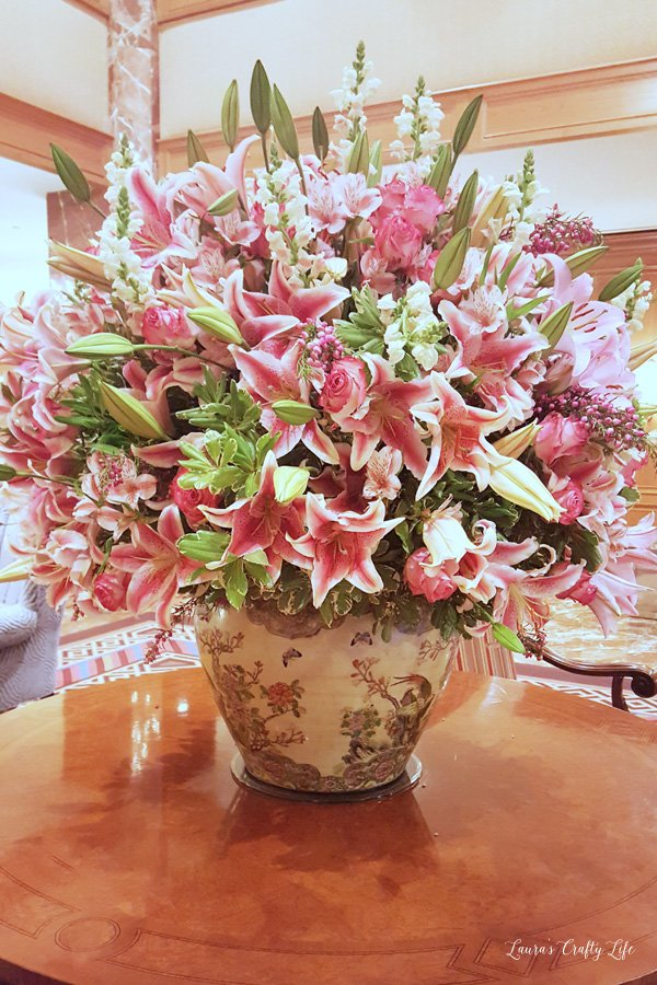 Flowers in lobby at Little America Hotel at Snap 2016