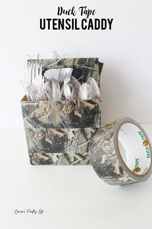 DIY Duck Tape Utensil Caddy