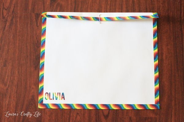 DIY Kids Art Portfolio