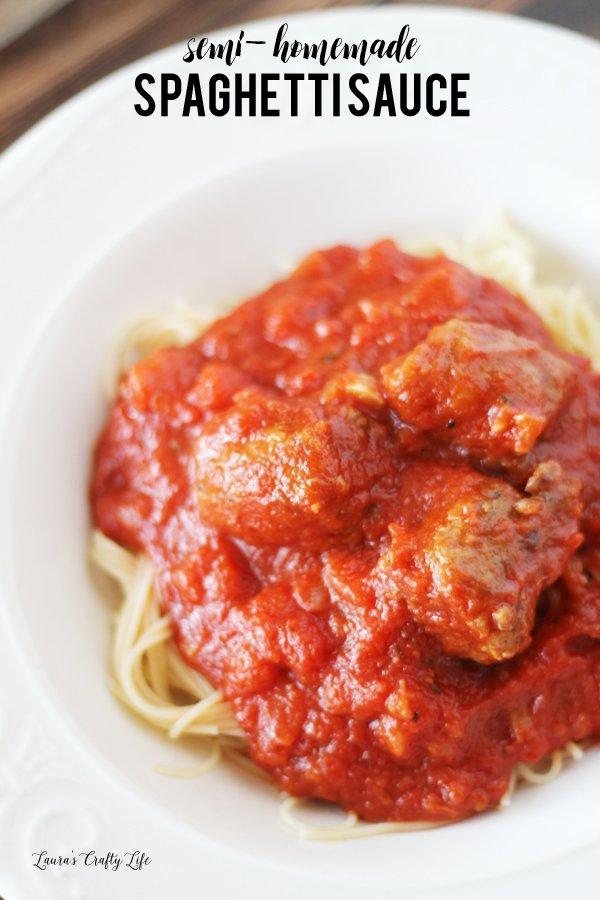 Semi-Homemade Spaghetti Sauce - a delicious, easy family weeknight recipe