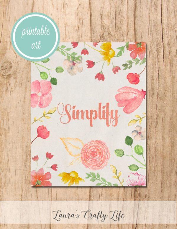 Simplify Printable Art - Laura's Crafty Life