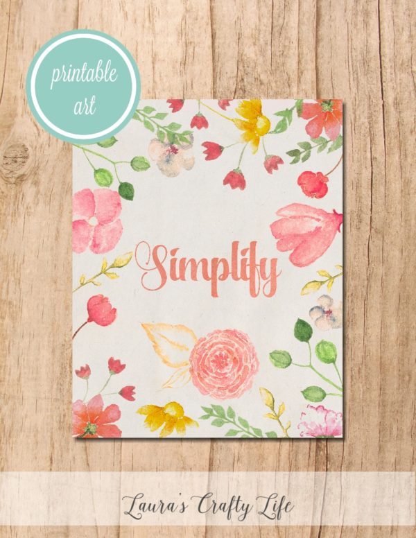 Simplify Printable Art - Laura's Crafty Life