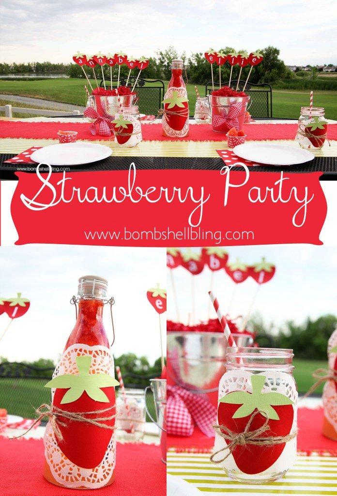 Strawberry-Themed-Birthday-Party