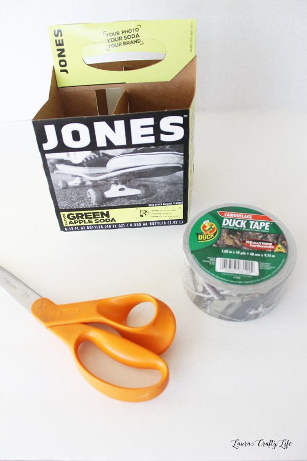 Supplies for Duck Tape utensil caddy