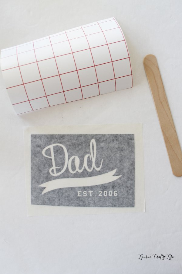 Use transfer tape to add vinyl to glass