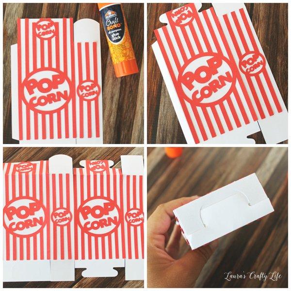 Assemble Popcorn box