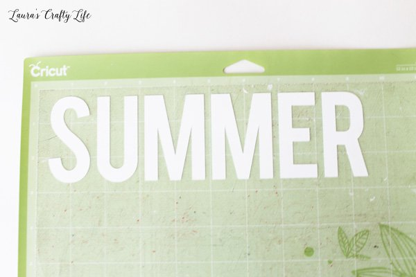 Cut out SUMMER letters using Cricut Explore