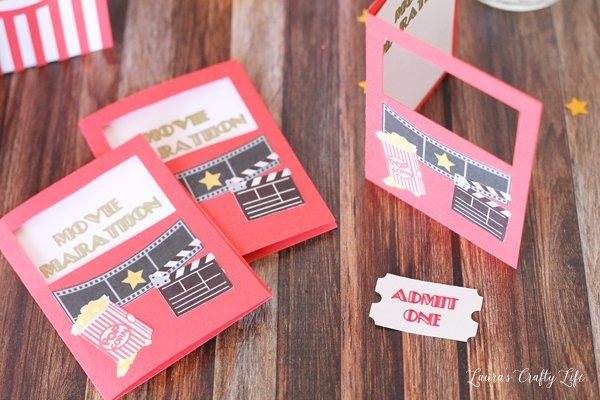 Movie Marathon Invitation with ticket stubs