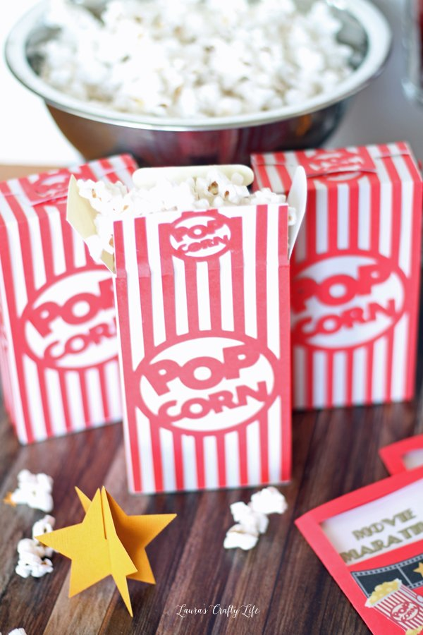Popcorn Boxes made with Cricut Explore