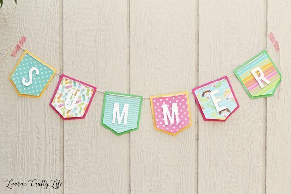Summer Banner made with We R Memory Keepers banner punch board