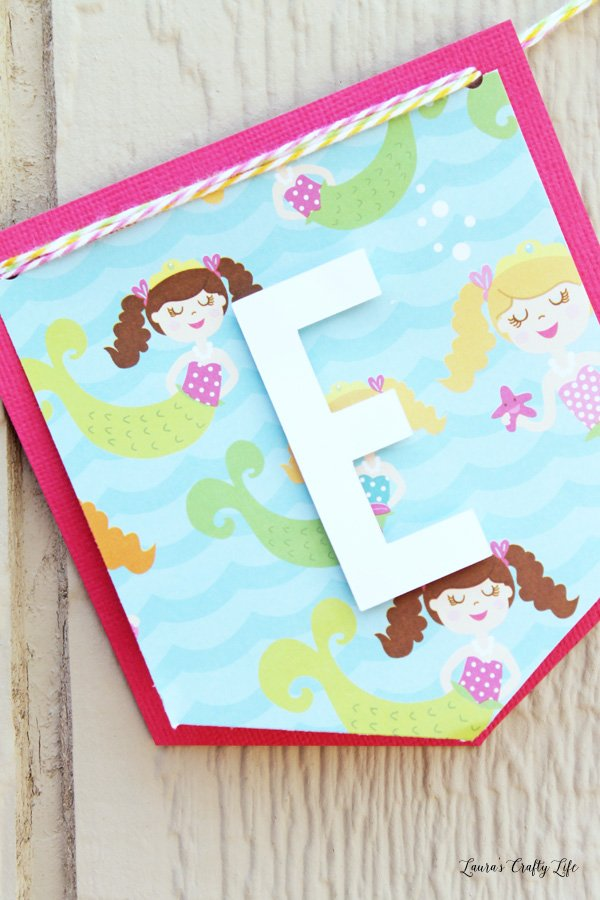 Summer Banner with mermaid paper