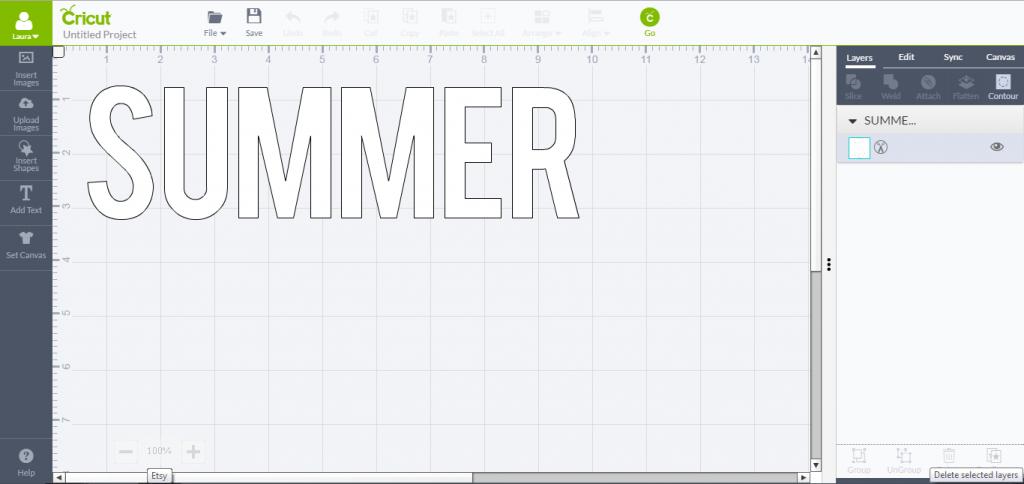 Summer Letter - Cricut Design Space