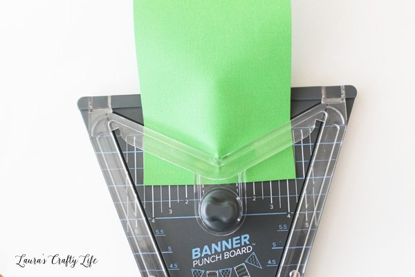 Use Banner Punch board to cut a crest shape