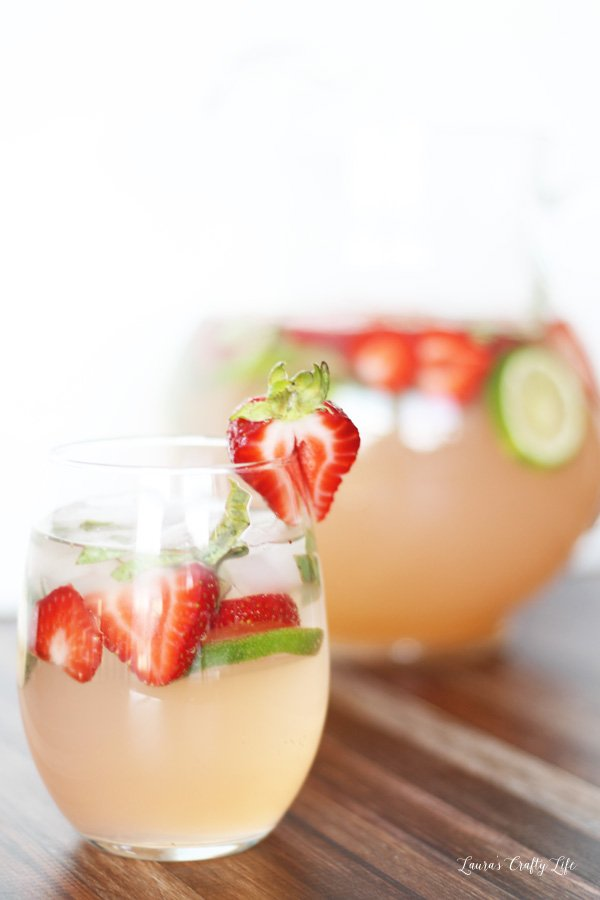 A delicious and refreshing recipe for Strawberry Limeade Cocktail