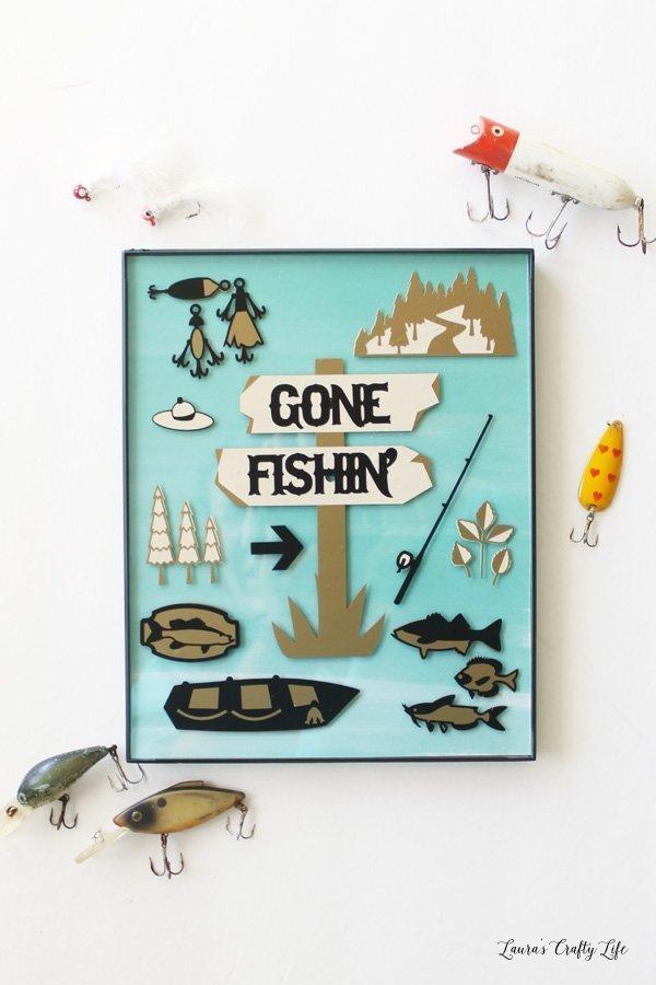 DIY Gone Fishin' sign