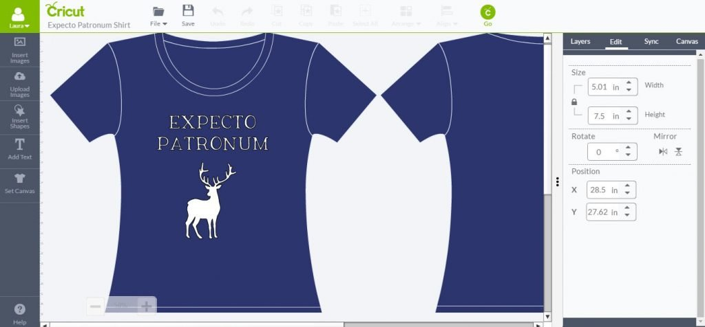 Expecto Patronum Cricut Design Space
