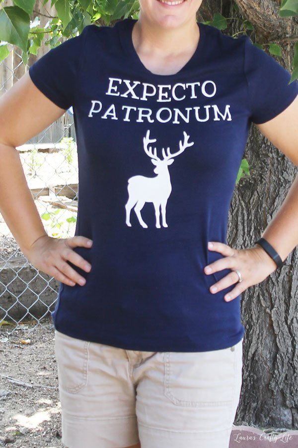 Expecto Patronum Harry Potter shirt DIY