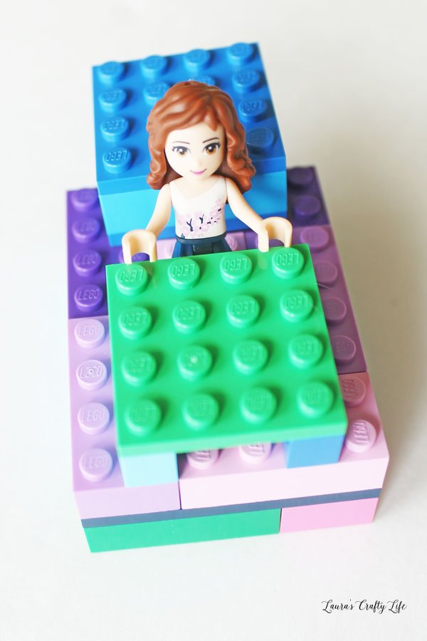 LEGO Friends bed pillow and blanket