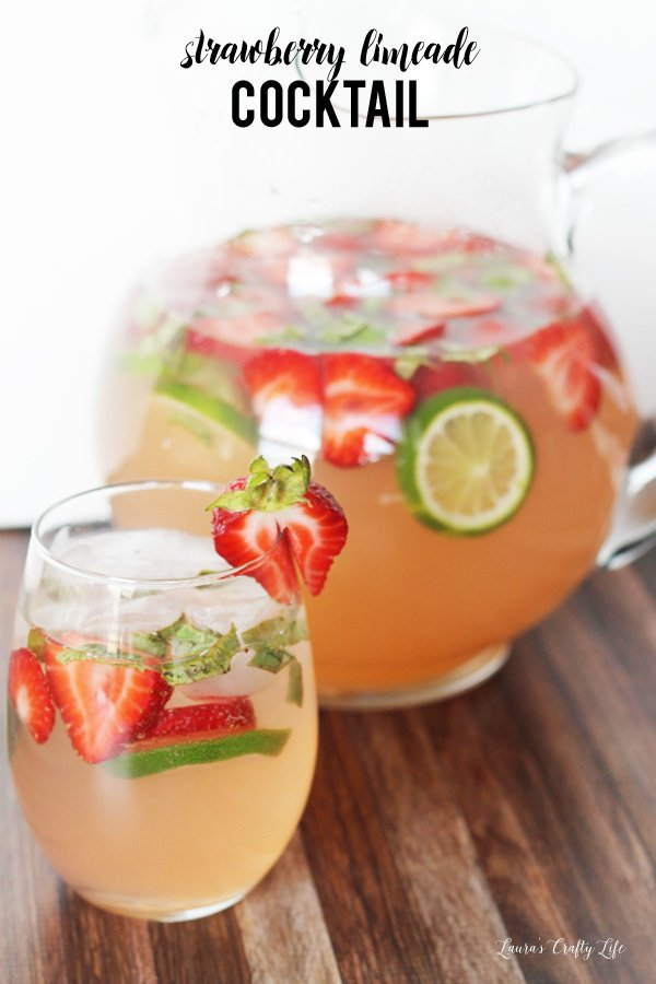 Strawberry Limeade Cocktail - a delicious and refreshing cocktail perfect for your summer get togethers