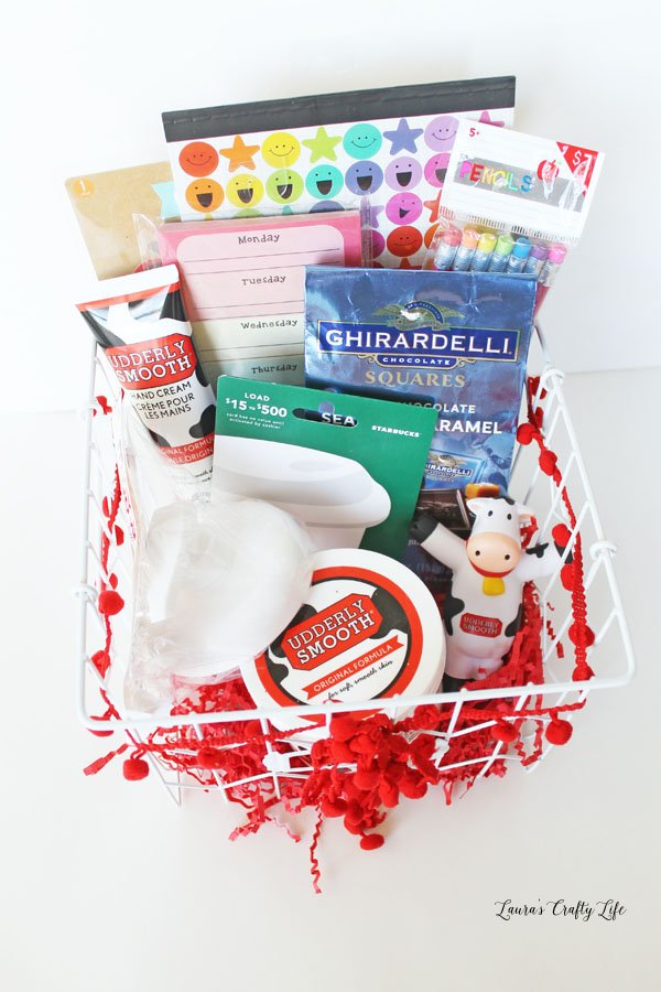 Add gifts to the basket