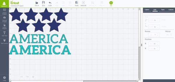 America and Stars with Cricut Explore