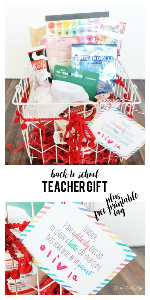 Back to School teacher gift with Udderly Smooth and a free printable gift tag