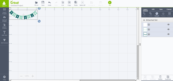 Change the size of the banner shape to fit in your planner
