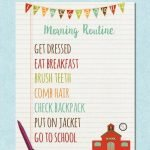 Morning Routine Free Printable