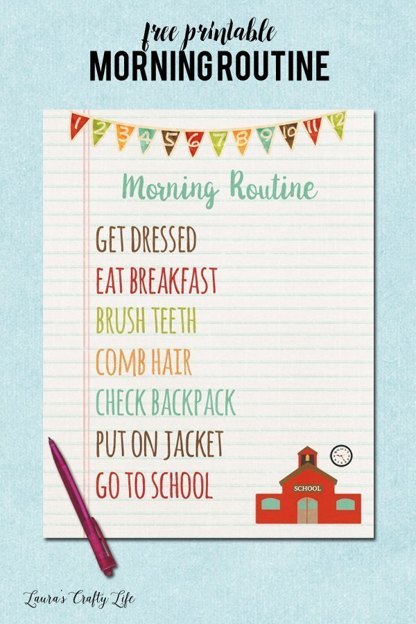 Free Printable Morning Routine